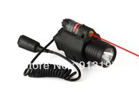 5pcs/Lot Tactical Airsoft M6 Style LED Flashlight & Red Laser Sight BLACK for pistol AEG
