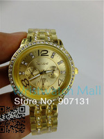 Geneva watch Fashion jewelry watch diamante women's wristwatch, alloy watch, stainless steel watches