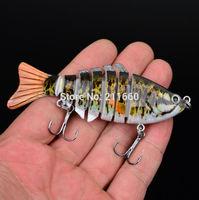 "1PC New 2014 Fishing Tackle 7 Sections Fishing Lure 10cm/4"" 0.542oz/15.37g Swimbait Fishing bait 6# Good Quality Hook"