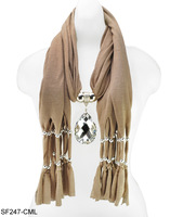 Free shipping elegant fashion jewelery scarf with crystal pendant beauty women fashion jwellery necklace scarf/SF247