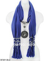 Free shipping fashion jewellery scarf with palace pendant stylish fashion jewelry women scarf  /SF261
