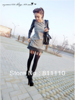 Trend Knitting  High Quality 2013 New fashion Women's pantyhose Sexy lace Elastic comfortable Tight 2 Colors