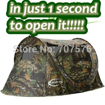 Automatic Boat 2 Person 2 doors Tent Lightweight Oxford Cloth Outdoor single layer Camping Portable Folding Jungle camouflage
