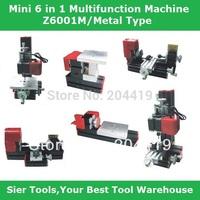 Free Ship 6 in 1 Mini Lathe Metal Type/Milling ,Drilling ,Wood Turning ,Saw,Sanding Machine,Mini Combined Machine Tool, DIY Tool