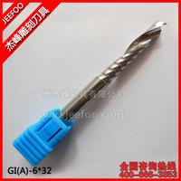 6*32mm Carbide CNC Router Bits Single Flute Tools/ Engraving Bits A Series