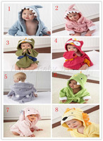 HB28 Fashion cute carton boy girl Animal Baby bathrobe/hooded bath towel/kids bath terry children infant bathing robe HoneyBaby