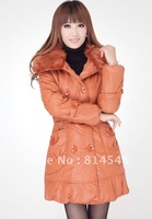 Hot sale 2012 winter luxury large fur collar thickening down coat ladies medium-long jacket outwear fashion coat  HD (1600)