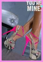 Popular match color ankle Strap high heel sandal shoes women platform open toe sexy sandals snakeskin summer sandals