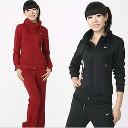 women's long sleeve sweatshirt tracksuit sport suits sportswear leasure jacket jersey sportshirt Hoodies free shipping(China (Mainland))