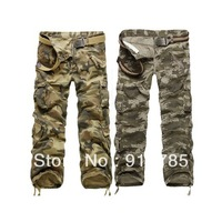 2014 latest washing camouflage men's overalls men,Large size military uniform  pants ,military cargo pants for men,28-40,022