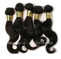 "Natural Wave #1b 5bundles/lot 12""-16"" 5A Virgin Brazilian hair extensions 100% unprocessed human Hair Free Shipping"