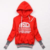 Free Shipping Women High Quality Hoody Jacket Long Style Hoodie Sweatshirts Winter Letter Coat #NB243