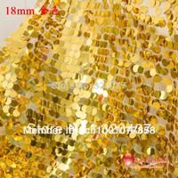 sequin dress lace fabric 18mm paillette Shining large