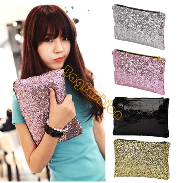 new bags women wallet Fashion Style Sparkle Spangle clutch purse evening bags and clutches lady Handbag 7248(China (Mainland))
