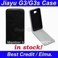 Newest arrival free shipping original jiayu G3 G3s  leather case, case for jiayu G3 G3s  black pink red orange yellow in stock