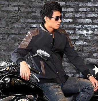 2012 mens winter jackets and coats splice jacket men winter splicing D031