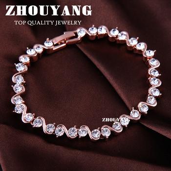 Top Quality ZYH039 Roman Verve 18K Rose Gold Plated Bracelet Jewelry  Austrian Crystal Wholesale