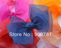 "20pcs/lot,4.5 "" * 2.5'' baby toddler ribbon bows hair accessories purple for Headband"