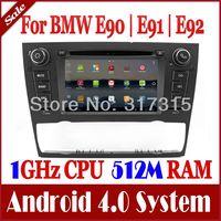 Android 4.0 AutoRadio Car DVD Player for BMW 3 Series E90 E91 E92 325i/330i/335i with GPS Navigation Stereo Radio TV USB 3G WIFI