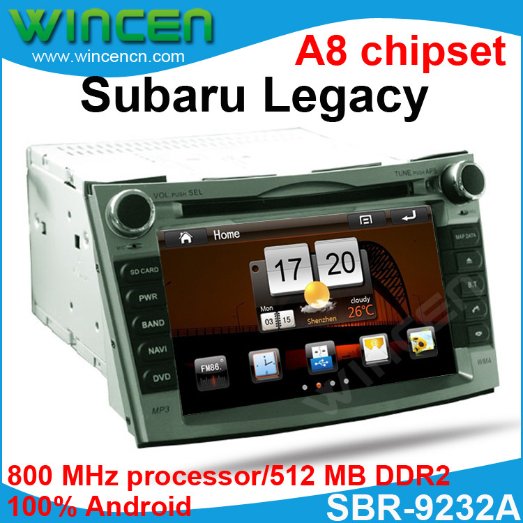 New!!! Pure Android Car DVD for Subaru Legacy 2012-2013 with Pure Android system 512MB memory 4GB storge Space 800 MHz(China (Mainland))