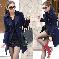 New arrival Winter fashion women's graceful wool outerwear& coat woolen trench S;M;L;XL ny3275LQ