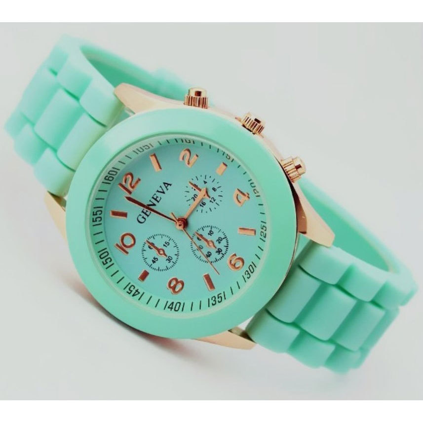 Geneva Casual Watch Women Dress Watch 2014 Quartz Military men Silicone watches Unisex Wristwatch Sports watch(China (Mainland))