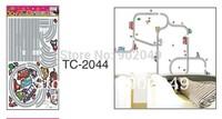 50x70cm Combination Creative Cartoon Highway DIY Children Room Decoration DIY Wall Stickers KW- TC2044