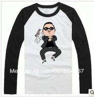 Psy Gangnam Style bird dancing horse men long-sleeve T-shirt Free shipping