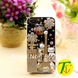 Free Shipping 2013 Hot Sale Luxury diamond crystal bling cell phone case For iPhone3,4,4S,5, Samsung (cp-425)(China (Mainland))