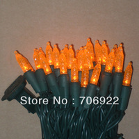 Holiday Sale Free Shipping 20 PCS UL 110V 7M 70L Orange Christmas Tree M5 LED Icicle Lights