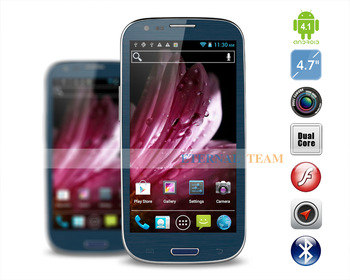 "Original 4.7"" haipai i9377 Android phones mtk6577 dual core android 4.1 4GB 8.0MP Camera WCDMA 3G smart phone Bluetooth GPS"