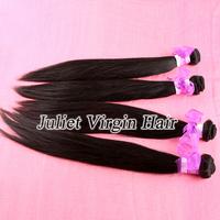 Free Shipping Virgin Malaysian Natural Straight Human Hair 4pcs/lot No Tangle No Shedding #1B Color Can Be Dyed No.MA60-033