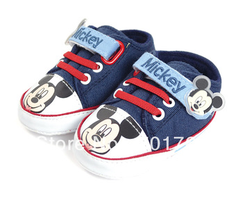 Retail - Free Shipping baby shoes Mickey Mouse,branded baby pre walker shoes