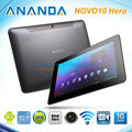 Free Shipping!10.1'' Ainol Novo 10 Hero Cortex-A9 1.5GHz Dual core Android 4.1 Jelly Bean 16GB IPS Bluetooth Camera Tablet PC