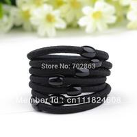 Elastic rubber band hair accessory black plus velvet hair rope tousheng headband brief candy color