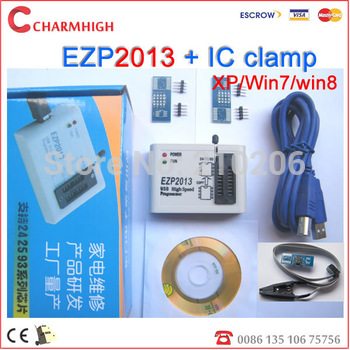 Hot sale 2013 new EZP2011 + 3 adapters +IC clamp, update EZP 2010 programmer USB SPI Programmer, best price