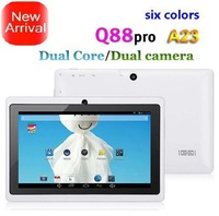 Free shipping NEW! Q88pro A23 Dual core Dual Camera Android 4.2.2 1.5GHz 512MB/4GB tablet pc OTG