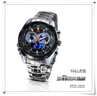 New arrived free shipping,top quality led and analog army watch, waterproof,fashion style for man; FW00006