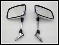 Freeshipping Chrome Big Side  mirror Mirrors For  Honda Yamaha Suzuki Kawasaki