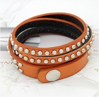 hot sale fashion rivet leather bracelet for women free shipping RuYiSL051