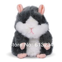 Free shipping 1piece Hamster Talking Plush Toy Talking Animal