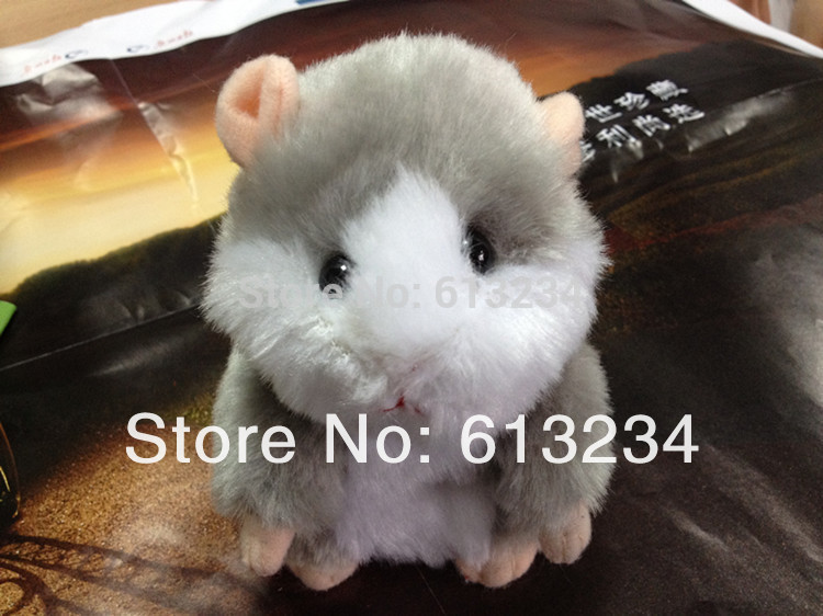 Free shipping 5.5'' Russian Talking Hamster Speaking Toys Repeat What U Said In Any Language