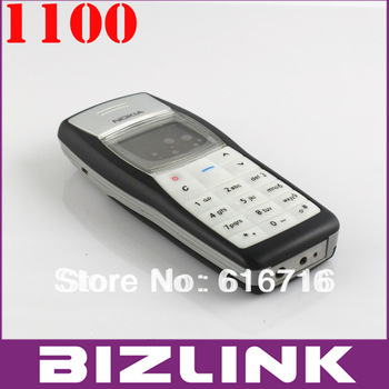 Promotion! Original Nokia1100  unlocked GSM mobile phone with russian polish hebrew language!free shipping full set