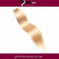 6A #60 Platinum Blonde 12-26Inches Straight Soft Silk 100g 100% Real Brazilian Virgin Remy Weft Weaving Extension Hair