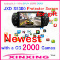 Factory price JXD S5300 5.0-inch Android 4.1.1 ARM Cortex A8 1GMHz CPU 4GB the second generation of JXD game center &quot;Game X&quot;(China (Mainland))