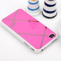 Free shipping Young style color puzzle Mobile phone shell for iPhone 4 4s