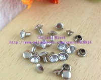 100sets/lot 7mm Fashion Alloy Stud A-grade Rhinestone Rivets With Cap Luxury DIY Clothing Accessory Rivet Retail/Free Shipping