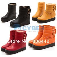 Women's Girl Winter Warm Flat Heel Snow Boots Shoes 4 Size Anti-skid Rubber Sole  9114