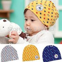 Free Shipping 1pc stars Cartoon Winnie labeling kit lens cap baby hat  2014 kid's cotton hat children cap baby Skullies& Beanies