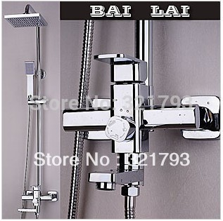 Free shipping!Hot sale,Luxury solid brass bathroom rain shower facuet set,nerver rust